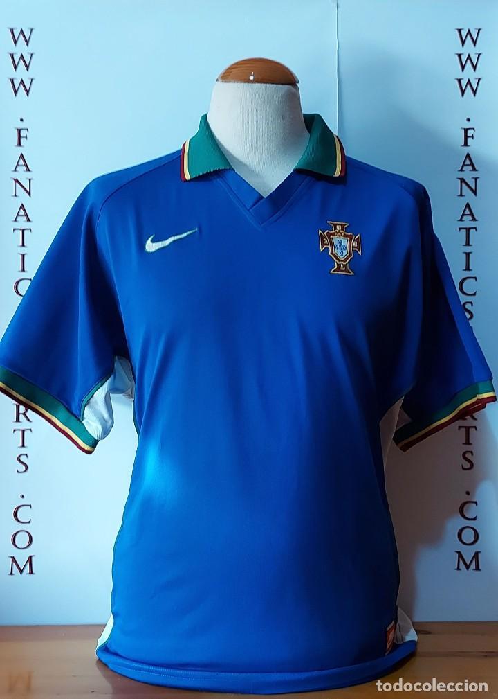 SELECCION PORTUGAL 1997 AWAY CAMISETA FUTBOL NIKE (Coleccionismo Deportivo - Ropa y Complementos - Camisetas de Fútbol)