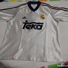 Coleccionismo deportivo: ANTIGUA CAMISETA TEKA REAL MADRID DE ADIDAS (NUMERO 3 EN REVERSO - SIN NOMBRE). Lote 222490338