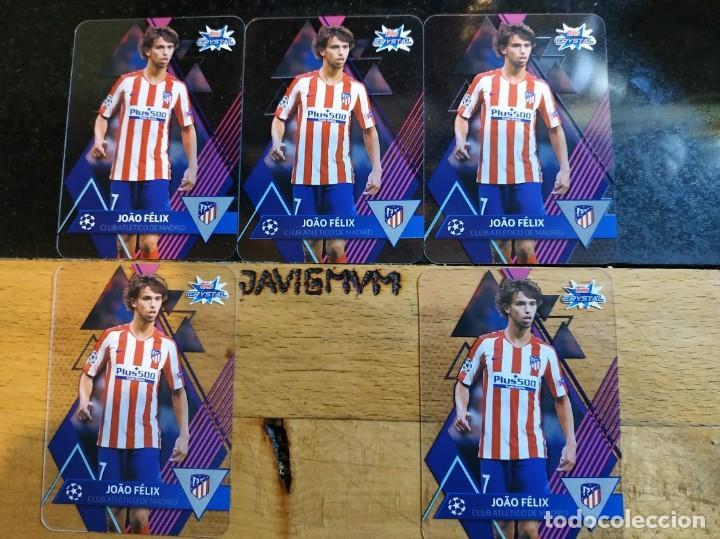 CHAMPIONS 2019 2020 TOPPS CRYSTAL CARDS Nº 6 JOAO FELIX POR 5 ATLETICO DE MADRID (Coleccionismo Deportivo - Ropa y Complementos - Camisetas de Fútbol)