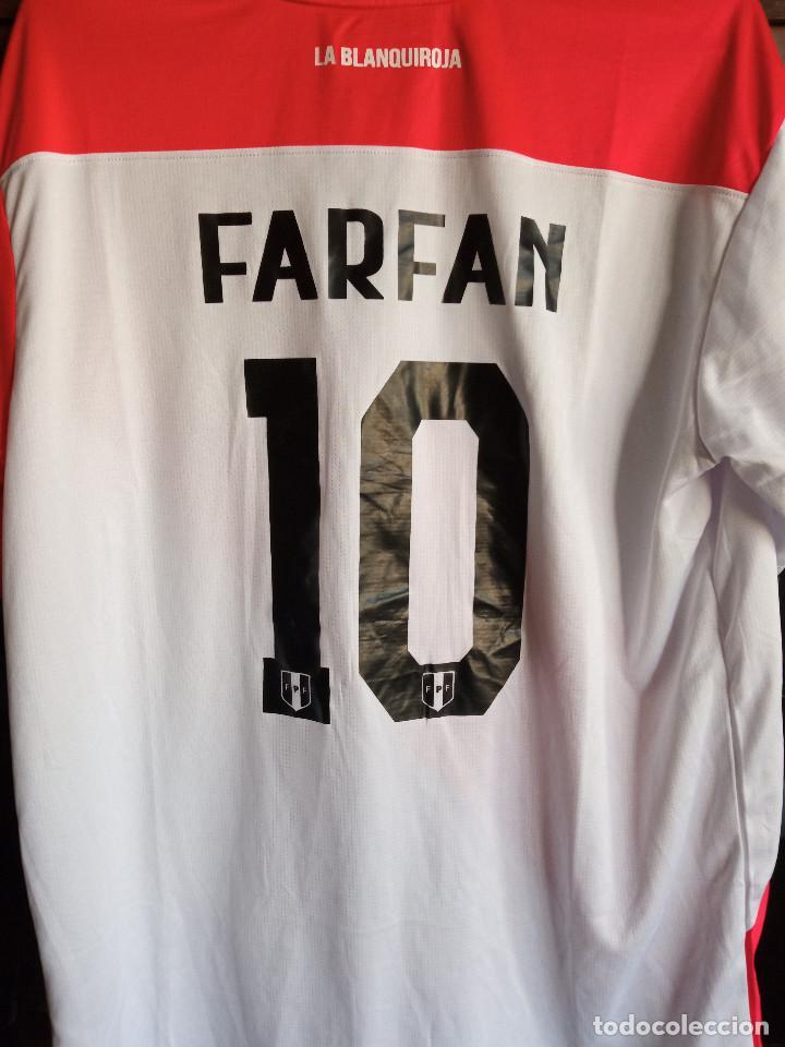 Coleccionismo deportivo: PERU FARFAN L camiseta futbol football shirt fussball maglia calcio - Foto 2 - 224704746