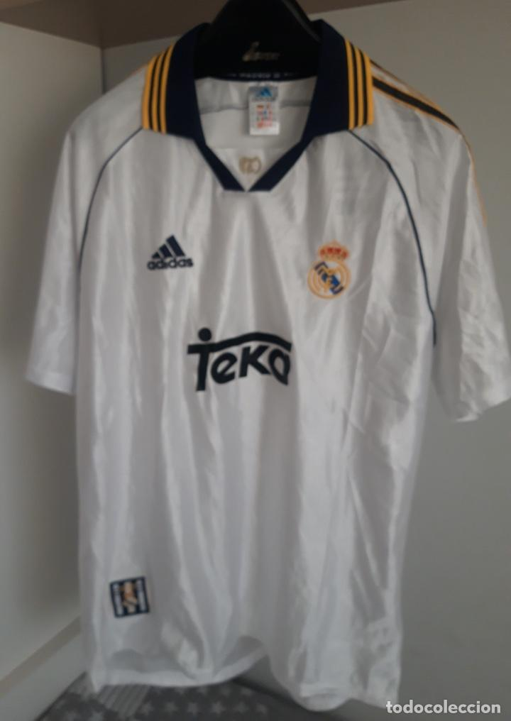CAMISETA REAL MADRID EDICIÓN CONMEMORATIVA OFICIAL AÑO 2000 TALLA 2XL (Coleccionismo Deportivo - Ropa y Complementos - Camisetas de Fútbol)