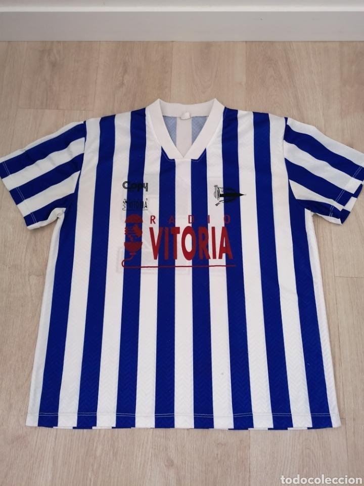 ANTIGUA CAMISETA DEL DEPORTIVO ALAVÉS COPY SPORT RADIO VITORIA (Coleccionismo Deportivo - Ropa y Complementos - Camisetas de Fútbol)