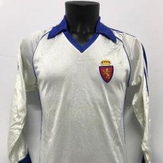 Coleccionismo deportivo: ANTIGUA CAMISETA T-SHIRT FUTBOL ORIGINAL REAL ZARAGOZA TEMP. 1981 - 1982 TALLA L CON COA. Lote 228175600