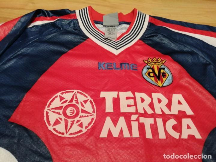ORIGINAL   FÚTBOL   CAMISETA VINTAGE VILLAREAL PLAYER LÓPEZ VALLEJO MATCH WORN (Coleccionismo Deportivo - Ropa y Complementos - Camisetas de Fútbol)