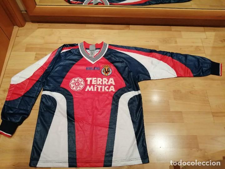 Coleccionismo deportivo: ORIGINAL   FÚTBOL   Camiseta vintage VILLAREAL player LÓPEZ VALLEJO match worn - Foto 2 - 228724820