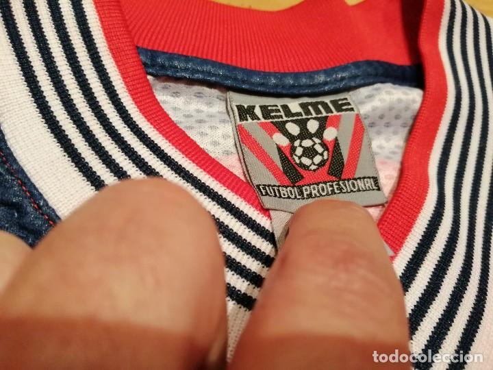 Coleccionismo deportivo: ORIGINAL   FÚTBOL   Camiseta vintage VILLAREAL player LÓPEZ VALLEJO match worn - Foto 6 - 228724820