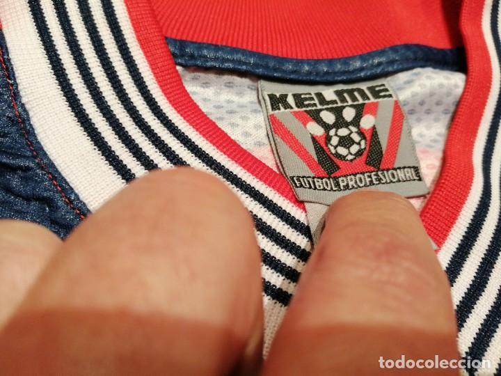 Coleccionismo deportivo: ORIGINAL   FÚTBOL   Camiseta vintage VILLAREAL player LÓPEZ VALLEJO match worn - Foto 8 - 228724820