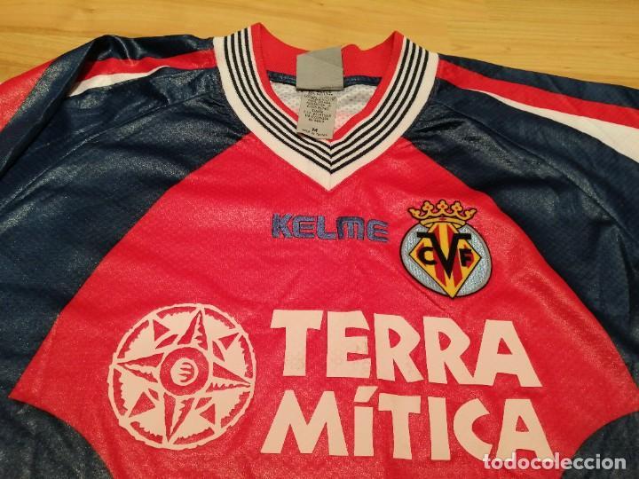 Coleccionismo deportivo: ORIGINAL   FÚTBOL   Camiseta vintage VILLAREAL player LÓPEZ VALLEJO match worn - Foto 11 - 228724820
