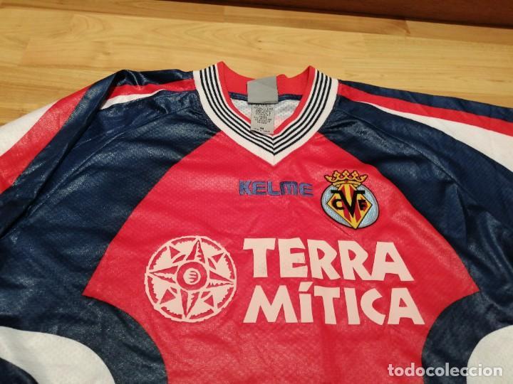Coleccionismo deportivo: ORIGINAL   FÚTBOL   Camiseta vintage VILLAREAL player LÓPEZ VALLEJO match worn - Foto 12 - 228724820