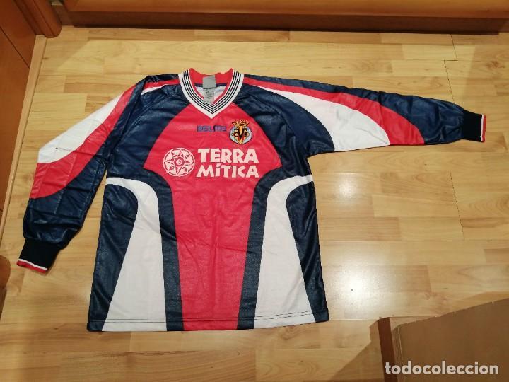 Coleccionismo deportivo: ORIGINAL   FÚTBOL   Camiseta vintage VILLAREAL player LÓPEZ VALLEJO match worn - Foto 13 - 228724820