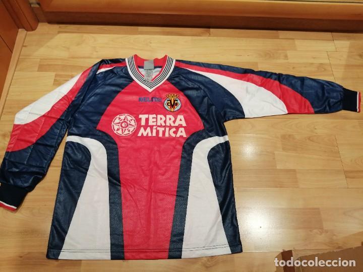 Coleccionismo deportivo: ORIGINAL   FÚTBOL   Camiseta vintage VILLAREAL player LÓPEZ VALLEJO match worn - Foto 14 - 228724820
