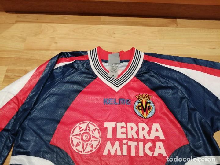 Coleccionismo deportivo: ORIGINAL   FÚTBOL   Camiseta vintage VILLAREAL player LÓPEZ VALLEJO match worn - Foto 15 - 228724820
