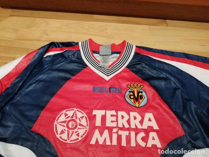 Coleccionismo deportivo: ORIGINAL   FÚTBOL   Camiseta vintage VILLAREAL player LÓPEZ VALLEJO match worn - Foto 16 - 228724820