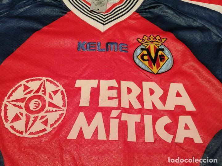 Coleccionismo deportivo: ORIGINAL   FÚTBOL   Camiseta vintage VILLAREAL player LÓPEZ VALLEJO match worn - Foto 18 - 228724820