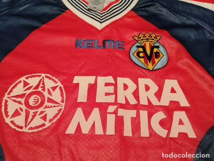 Coleccionismo deportivo: ORIGINAL   FÚTBOL   Camiseta vintage VILLAREAL player LÓPEZ VALLEJO match worn - Foto 19 - 228724820