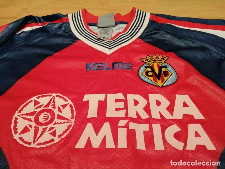 Coleccionismo deportivo: ORIGINAL   FÚTBOL   Camiseta vintage VILLAREAL player LÓPEZ VALLEJO match worn - Foto 20 - 228724820