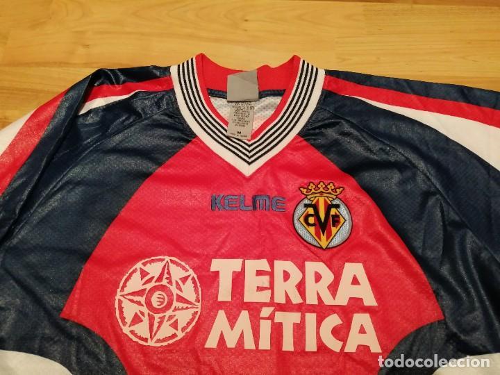 Coleccionismo deportivo: ORIGINAL   FÚTBOL   Camiseta vintage VILLAREAL player LÓPEZ VALLEJO match worn - Foto 21 - 228724820