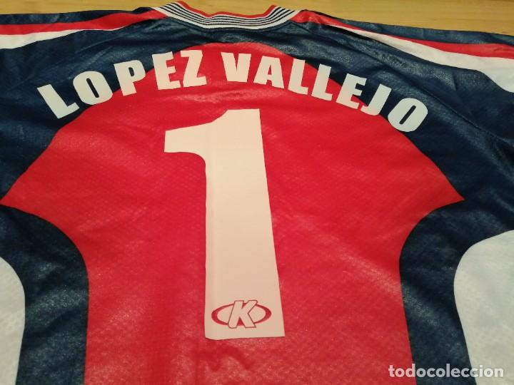 Coleccionismo deportivo: ORIGINAL   FÚTBOL   Camiseta vintage VILLAREAL player LÓPEZ VALLEJO match worn - Foto 24 - 228724820