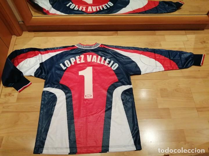 Coleccionismo deportivo: ORIGINAL   FÚTBOL   Camiseta vintage VILLAREAL player LÓPEZ VALLEJO match worn - Foto 26 - 228724820