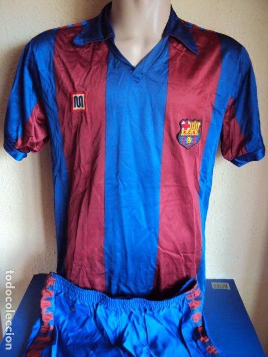 (F-201215)CAMISETA Y PANTALON MEYBA F.C.BARCELONA (Coleccionismo Deportivo - Ropa y Complementos - Camisetas de Fútbol)