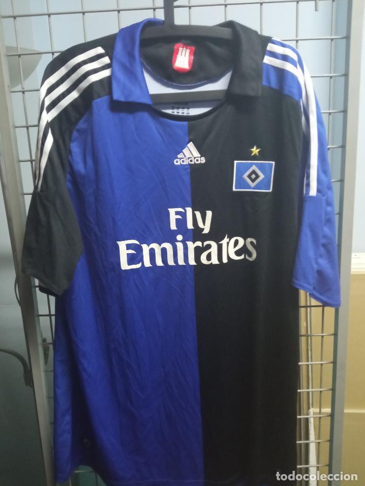 HAMBURGER MATCH WORN XXL GERMANY FOOTBALL CAMISETA FUTBOL FOOTBALL SHIRT TRIKOT CALCIO (Coleccionismo Deportivo - Ropa y Complementos - Camisetas de Fútbol)