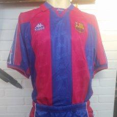 Coleccionismo deportivo: EQUIPACION COMPLETA FC BARCELONA KAPPA TEMPORADA 95-96 NUEVA CON ETIQUETA SIN USAR. Lote 220643316