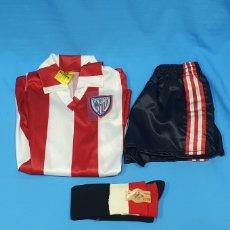 Coleccionismo deportivo: EQUIPACIÓN DE JUGADOR INFANTIL - ATHLETIC DE BILBAO - FENOLL - AÑOS 80. Lote 231608510