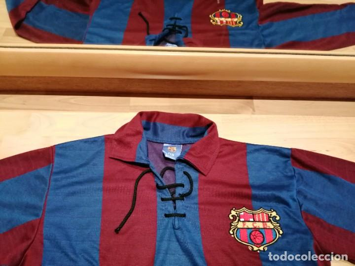 FC BARCELONA. RÉPLICA 1920. TALLA XL. CORDONES Y ESCUDO ÉPOCA. (Coleccionismo Deportivo - Ropa y Complementos - Camisetas de Fútbol)