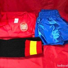 Collezionismo sportivo: CHANDAL DE FUTBOL DE LA SELECCION ESPAÑOLA, DE LA CASA BV (B. VIVANCOS), TALLA 2 NUEVO A ESTRENAR. Lote 234837790