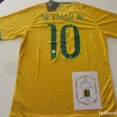 Collectionnisme sportif: NEYMAR CAMISETA FIRMADA DE BRASIL CON CERTIFICADO (COA). Lote 234959340