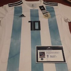 Coleccionismo deportivo: CAMISETA ARGENTINA MESSI FIRMADA Y CERTIFICADA NUEVA. Lote 237712610