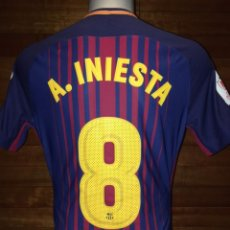 Coleccionismo deportivo: CAMISETA FC BARCELONA 2017 / 2018 FINAL COPA REY MATCH UN WORN SHIRT #8 ANDRES INIESTA. Lote 238346280