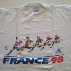 Coleccionismo deportivo: CAMISETA DE LA COPA DEL MUNDO DE FUTBOL FRANCIA FRANCE 98 COUPE DU MONDE USADA TALLA XL. Lote 241549090