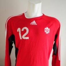 Coleccionismo deportivo: CAMISETA ADIDAS SELECCION CANADA ORIGINAL CON DORSAL Y MANGAS LARGAS. MUY RARA. TALLA L. Lote 244015230