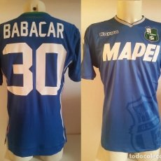 Coleccionismo deportivo: CAMISETA MATCHWORN SS SASSUOLO 2018. BABACAR. Lote 244444230