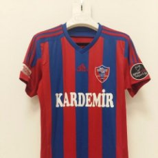 Coleccionismo deportivo: CAMISETA MATCHWORN KARDEMIR KARABUKSPOR TURQUÍA 2019 HAMIDOU. Lote 244792515