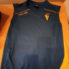 Coleccionismo deportivo: M-26 CAMISETA FUTBOL SIN MANGAS ENTRENAMIENTO CADIZ CLUB DE FUTBOL TALLA L KELME. Lote 249083365