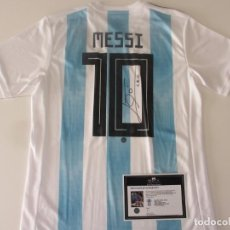 Collectionnisme sportif: MESSI CAMISETA ARGENTINA FIRMADA CON COA. Lote 251835460