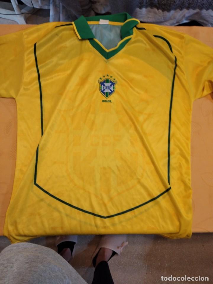 M-31 CAMISETA FUTBOL BRASIL TALLA GRANDE (Coleccionismo Deportivo - Ropa y Complementos - Camisetas de Fútbol)