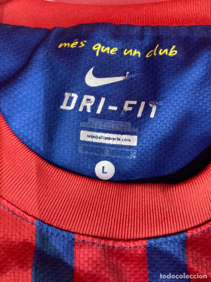 Coleccionismo deportivo: Camiseta fútbol club barcelona Nike original Qatar fundación talla L. Ver fotos - Foto 2 - 254845785