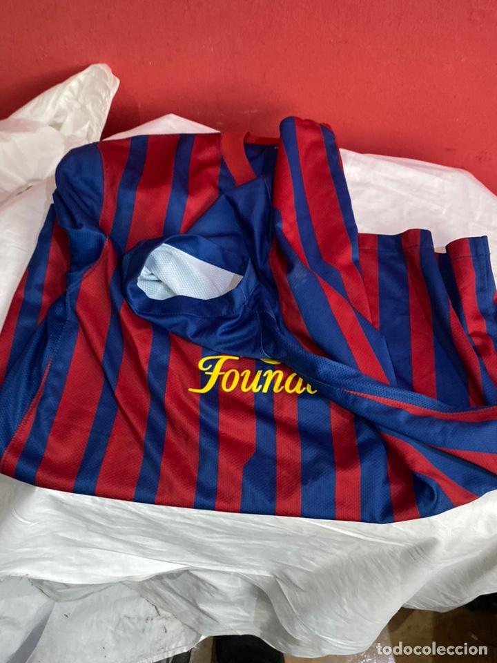 Coleccionismo deportivo: Camiseta fútbol club barcelona Nike original Qatar fundación talla L. Ver fotos - Foto 3 - 254845785