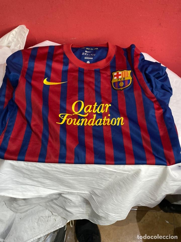 CAMISETA FÚTBOL CLUB BARCELONA NIKE ORIGINAL QATAR FUNDACIÓN TALLA L. VER FOTOS (Coleccionismo Deportivo - Ropa y Complementos - Camisetas de Fútbol)