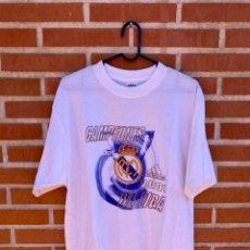 Coleccionismo deportivo: CAMISETA REAL MADRID CAMPEÓN DE LIGA 2001. Lote 255367975
