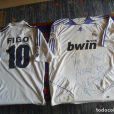 Coleccionismo deportivo: CAMISETA REAL MADRID ROBBEN CON AUTÓGRAFO 2006 2007 ADIDAS. REGALO CAMISETA FIGO 2000 2001. RARA.. Lote 262167495