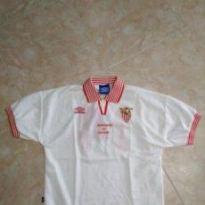 Coleccionismo deportivo: CAMISETA UMBRO SEVILLA F.C ( DONANTES DE SANGRE ) TALLA L. Lote 267225674