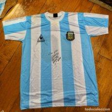 Coleccionismo deportivo: CAMISETA MUNDIAL 86 AUTOGRAFIADA/FIRMADA MARADONA. Lote 267440274