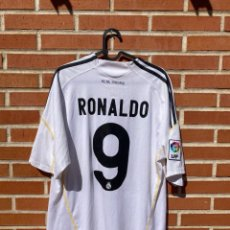 Coleccionismo deportivo: CAMISETA FUTBOL ORIGINAL/OFICIAL REAL MADRID 2009-2010 #9 RONALDO. Lote 268041439