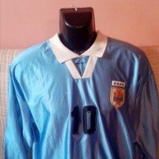 Coleccionismo deportivo: CAMISETA MATCH WROM DE LA SELECCIÓN URUGUAYA UTILIZADA POR FEDERICO MAGALLANES COPA AMÉRICA 1999. Lote 268905569