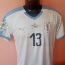 Coleccionismo deportivo: CAMISETA DE URUGUAY DE UTILERIA (PREPARADA PARA JUEGO) COPA AMÉRICA 2019 M. SARACCHI. Lote 268906154