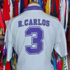 Coleccionismo deportivo: #3 ROBERTO CARLOS REAL MADRID 90S CAMISETA FUTBOL TAQUY. Lote 268953554